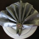 Rhinestone Flower  Napkin Ring with Napkin (Set of 4)