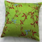 Simply  luxury  lime green raw silk cushion cover rs 071