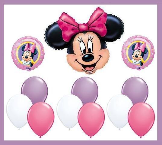 Minnie Mouse Birthday Balloon Kit -party supplies-12pcs