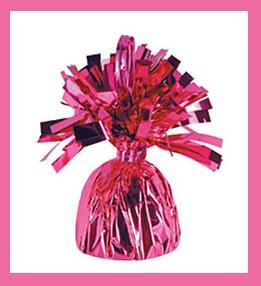 Pink Foil Balloon Weight birthday party supplies 6oz.