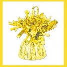 Yellow Foil Balloon Weight birthday party supplies 6oz.