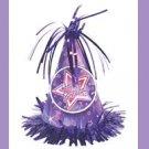 Party Hat Balloon Weight -pink/purple-birthday supplies