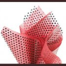 Black polka dot cello sheet & red tissue paper supplies