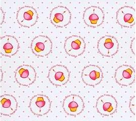 Cupcake cello sheets gift bag wrap supplies 20x20(10ct)