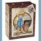 Daddy's Boots gift bag w/tag wrap supplies boy & dog
