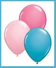 Latex Party Balloons - 12ct - Pink, Rose, Teal