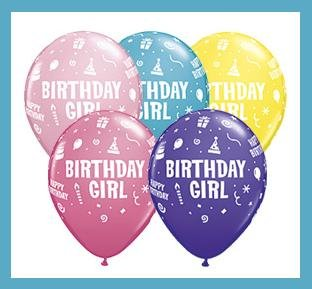 Birthday Girl latex party balloons party decorations