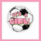 It's a Girl soccer ball baby shower balloon supplies