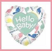 Hello Baby shower balloon boy/girl supplies/decorations