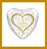 Wedding Wishes Doves party balloon supplies decorations