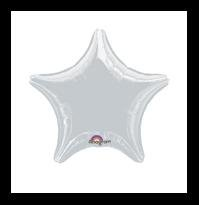 Silver Star mylar balloon party supplies decoration
