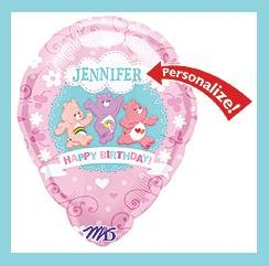 Carebear Balloon- Personalized - Birthday Party Balloon