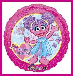 Abby Cadabby Birthday Balloon - Sesame Street decorations