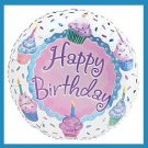 Happy Birthday Cupcake Party Balloon-supplie/decoration