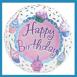 Happy Birthday Cupcake Party Balloon-supplie/decoration