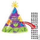 Personalized Party Hat birthday balloon