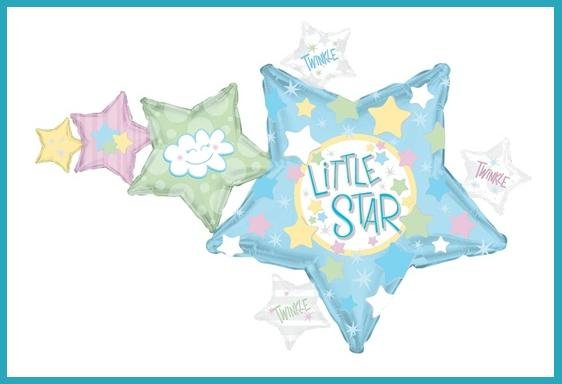 Singing Baby Shower balloons boy - girl Twinkle Star