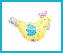 Spring Chicken farm animal garden party balloons supplies