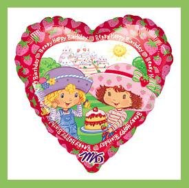 Strawberry Shortcake birthday party balloons supplies