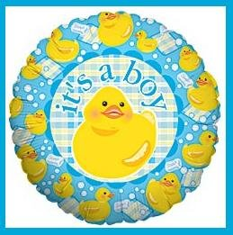It's a Boy baby shower balloons rubber duckie supplies