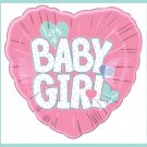 Baby girl heart baby shower balloons supplies pink