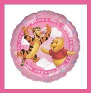 Winnie the Pooh It's a Girl baby shower balloons supplies