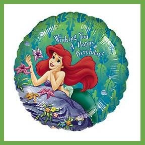 Little Mermaid Ariel birthday balloons Disney Princess