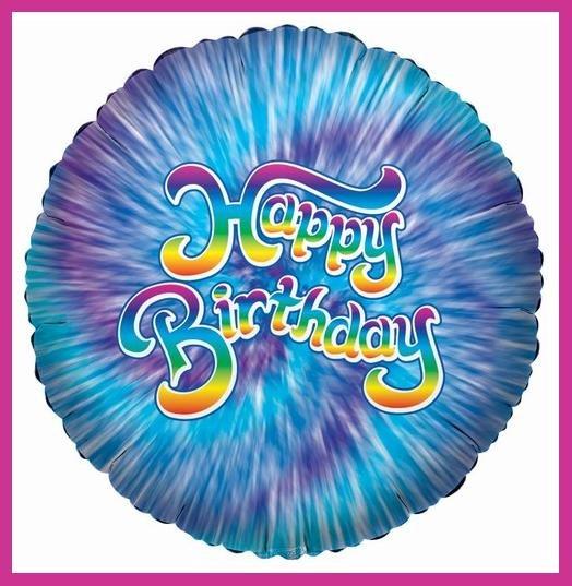 Blue Tye Dye Birthday Party Balloons supplies/decoration