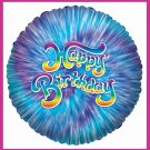 Blue Tye Dye Birthday Party Balloons supplies/decoration