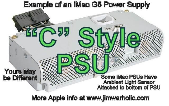 C Style Apple iMac G5 Power Supply 20 Inch Cap Kit