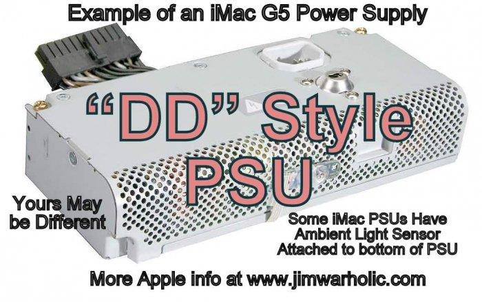 "DD PSU Apple G5 iMac Power Supply Capacitors Kit ""DD"" Style"