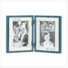 36664 Blue Double Photo Frame