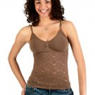 Guess Jeans Stretch Brown/Cocoa Lace Tank XS/S X-Small!