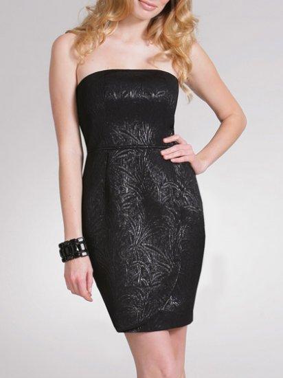 Arden B $148 Black Jacquard Tube Dress Size S Small NWT