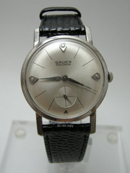 Vintage Gruen Precision Men's Diamod Watch Cal. 510