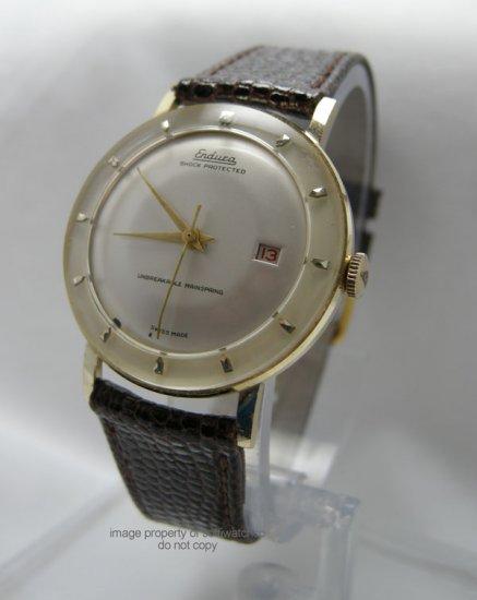 Vintage Endura Swiss Aluminum Manual Wind Men's Date Watch