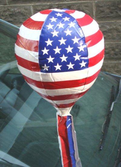 One Car Antenna Topper Balloon Patriotic American Flag
