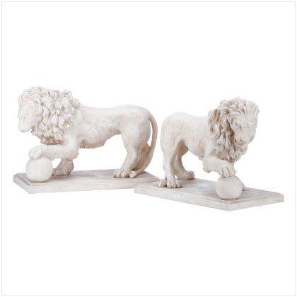 Alabastrite Garden Lion Pair