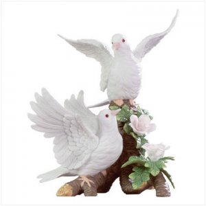 Doves On A Floral Branch