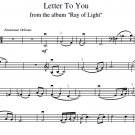 Digital Download: Cello Duet Sheet Music: 'Letter To You' by Tina Guo