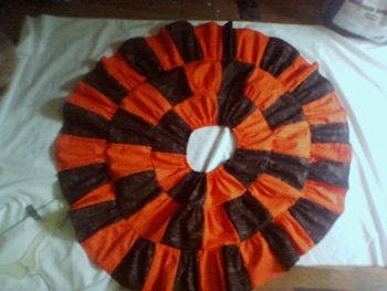 Custom Halloween Colors Twirl Skirt  Orange and Black Print
