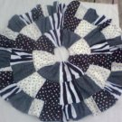 Custom Boutique Twirl Skirt Black & White Polka Dots