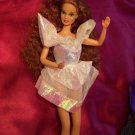 1993 Secret Hearts Barbie Iridescent White Fashion Dress with Red Hearts