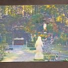 Vintage Postcard View of the Grotto Showing the Blessed Virgin  St. Bernadette Chrome Postcards