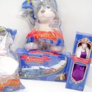 Rare 20th Century Fox 4 piece Anastasia Collection train doll bat puppy set nrfp