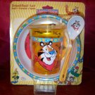 Zak Designs Kelloggs Toddler Childrens Dining Tony The Tiger Breakfast Bowl Set Cup Bowl Spoon