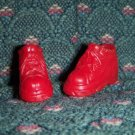 Barbie Size Red High Heel Tie Up Tennis Gym Shoes