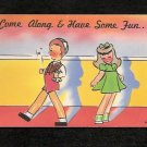 Comic #448 COME ALONG & HAVE SOME FUN Vintage Unused Funny Comical POSTCARD