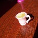 Barbie Francie Blythe Bratz Size Pink Hot Chocolate Mug Cup with 'Marshmallows' Miniature Food