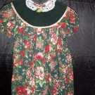 Jo Lene Girls Size 4T Holiday Christmas Velvet and Lace Old-Fashioned Rose Floral Dress
